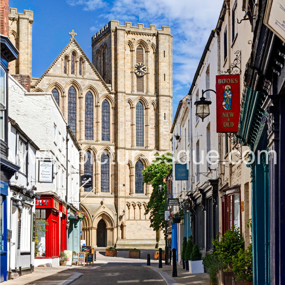 Kirkgate Ripon leading to Ripon Cathedral, North Yorkshire