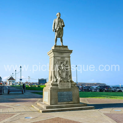 Captain Cook Monument Whitby North Yorkshire single greetings card