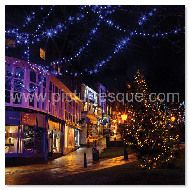 Montpellier Harrogate Christmas Lights Christmas Card
