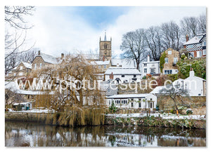 Knaresborough Waterside in the Snow