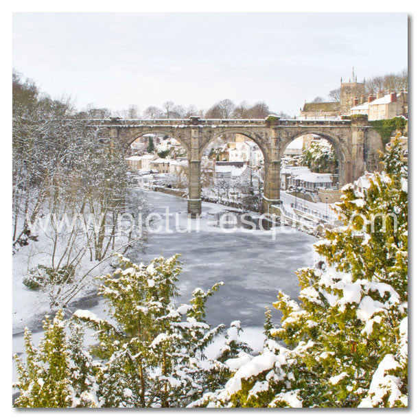 Frozen Nidd at Knaresborough by Charlotte Gale