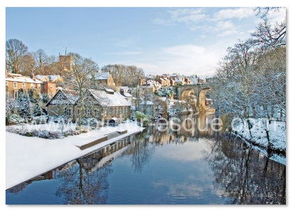 Knaresborough Viaduct from High Bridge Christmas Card by Charlotte Gale