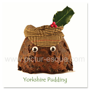 Yorkshire Pudding Christmas Card by Charlotte Gale