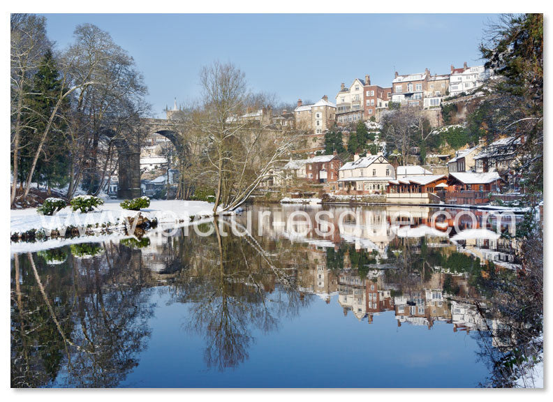 Viaduct Reflections Knaresborough Christmas Card
