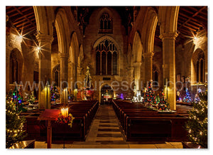 St John's Knaresborough Christmas Tree Festival Yorkshire Christmas Card