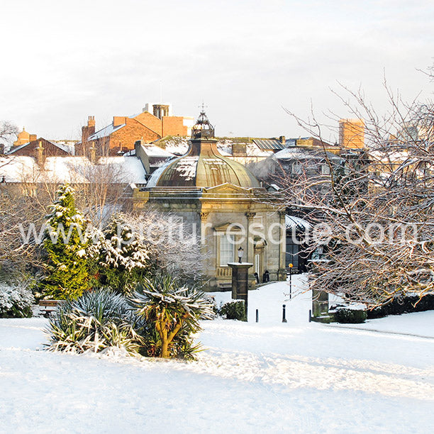Pump Room in the Snow Harrogate Christmas Card