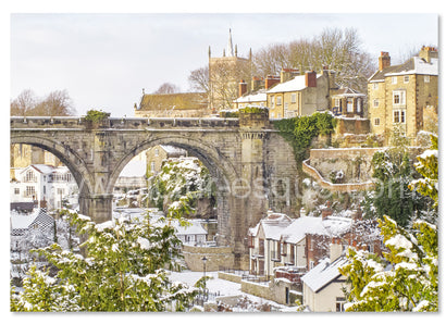 Luxury Christmas card featuring Knaresborough Viaduct in the Snow