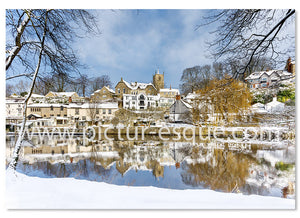 Knaresborough Waterside in the Snow Christmas Card