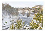 Frozen Nidd Knaresborough Christmas Card