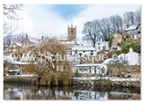 Waterside in the Snow Christmas card