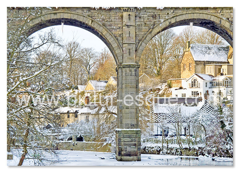 Knaresborough Viaduct Arches Christmas Card