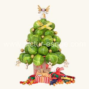 Sprout Tree Mini Blank Christmas Notecard