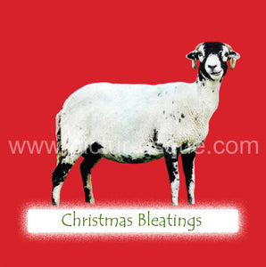 Christmas Bleatings Sheep Christmas Card