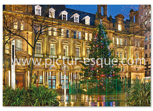 Christmas Tree in Leeds City Square Christmas Card