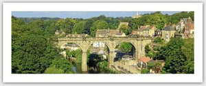 Knaresborough Viaduct in Summer Gift Tag by Charlotte Gale