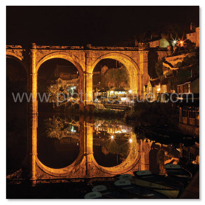 Knaresborough Viaduct Floodlit