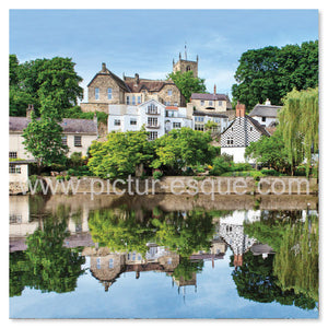 Waterside Reflections Knaresborough Blank Card