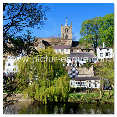 Waterside Knaresborough North Yorkshire blank greetings card