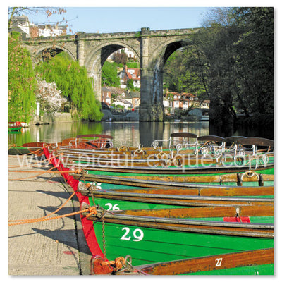 Knaresborough Rowing Boats Blank Greetings Card