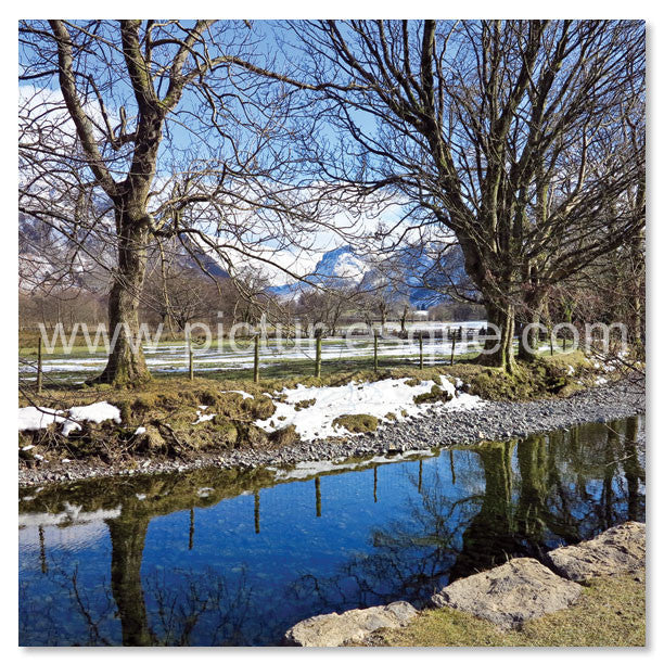 'River Derwent' Blank Square Greetings Card