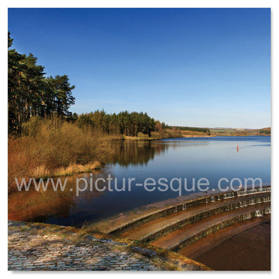 Fewston Reservoir Harrogate Blank Greetings Card