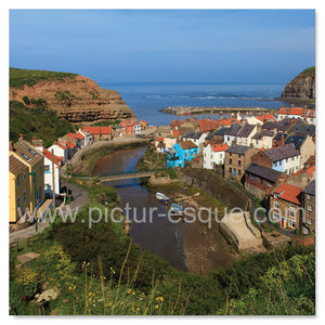 Staithes blank greetings card