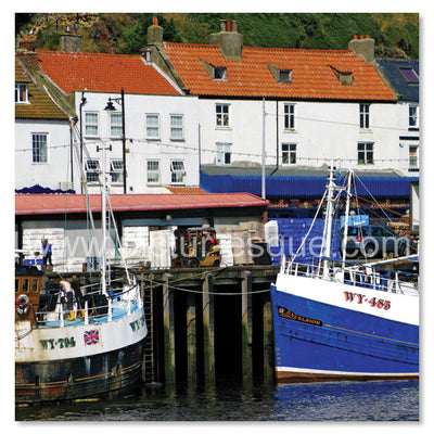 Whitby fishing boats by Charlotte Gale