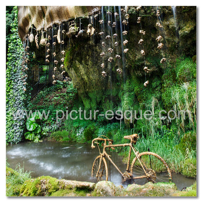 Mother Shiptons Cave Petrified Bike Blank Knaresborough Greetings Card
