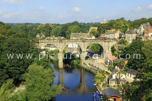 Knaresborough Viaduct in Summer photo on canvas