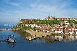 Replica Endeavour Whitby Yorkshire Canvas by Charlotte Gale