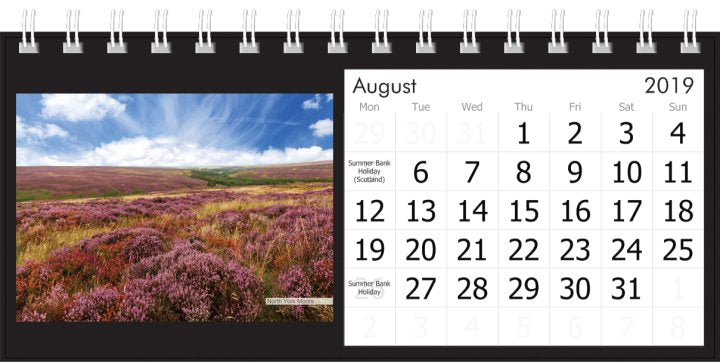 Yorkshire Desk Calendar 2019 - North York Moors