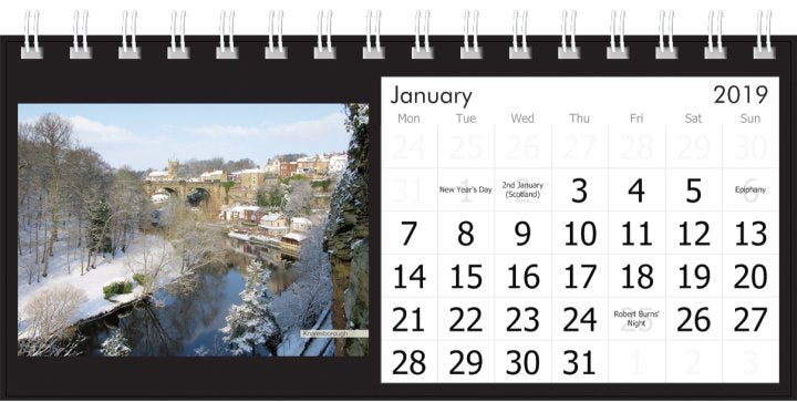 Yorkshire Desk Calendar 2019 - Knaresborough Viaduct