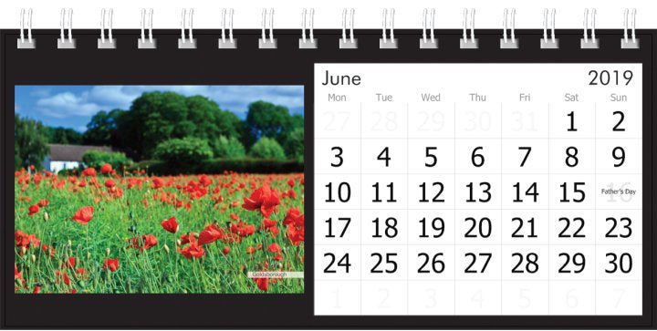 Yorkshire Desk Calendar 2019 - Poppies Goldsborough