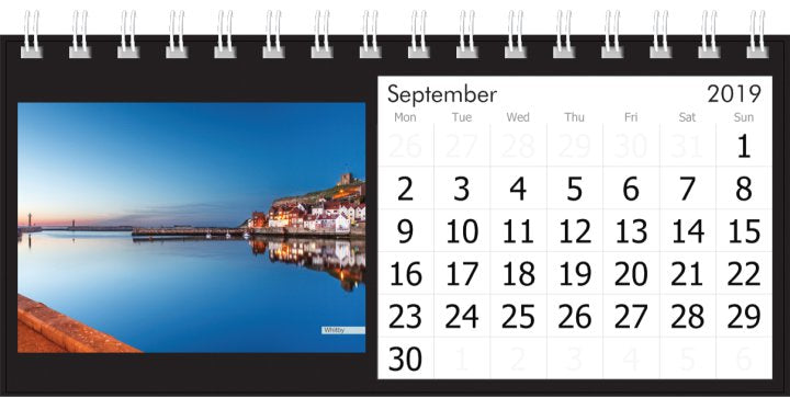 Yorkshire Desk Calendar 2019 - Whitby Harbour