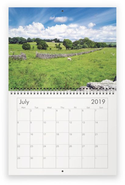 Yorkshire A4 Wall Calendar 2019 - Yorkshire Dales