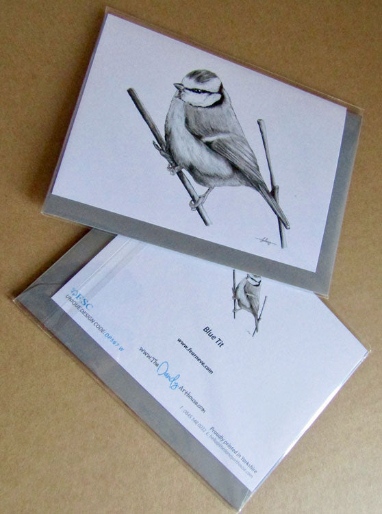 Blue Tit Bird Greeting Card