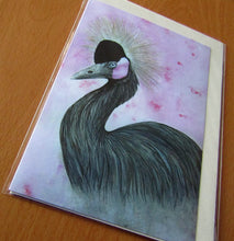 Load image into Gallery viewer, The Crowned Crane - Wildlife Art Greeting Card