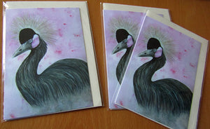 The Crowned Crane - Wildlife Art Greeting Card