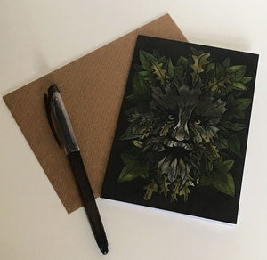 The Green Man - Art Greeting Card