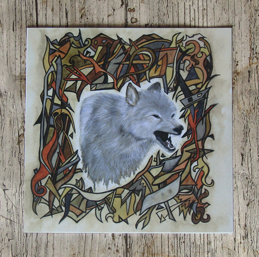 Guardian, Wolf Greeting Card