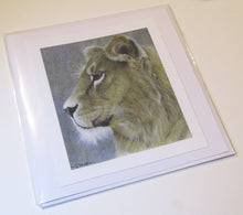 Load image into Gallery viewer, Lioness Greeting Card