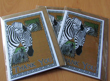 Load image into Gallery viewer, Zebra - Wildlife Art Greeting Card - Thank You