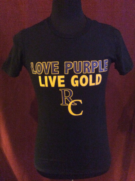 Love Purple/Live Gold SS T-Shirt