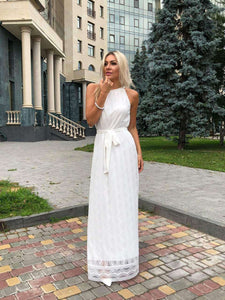 Long Bohemian Wedding Dress-Wedding Dress-Ivory and Kate