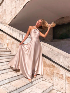 Champagne Off Shoulder Dress
