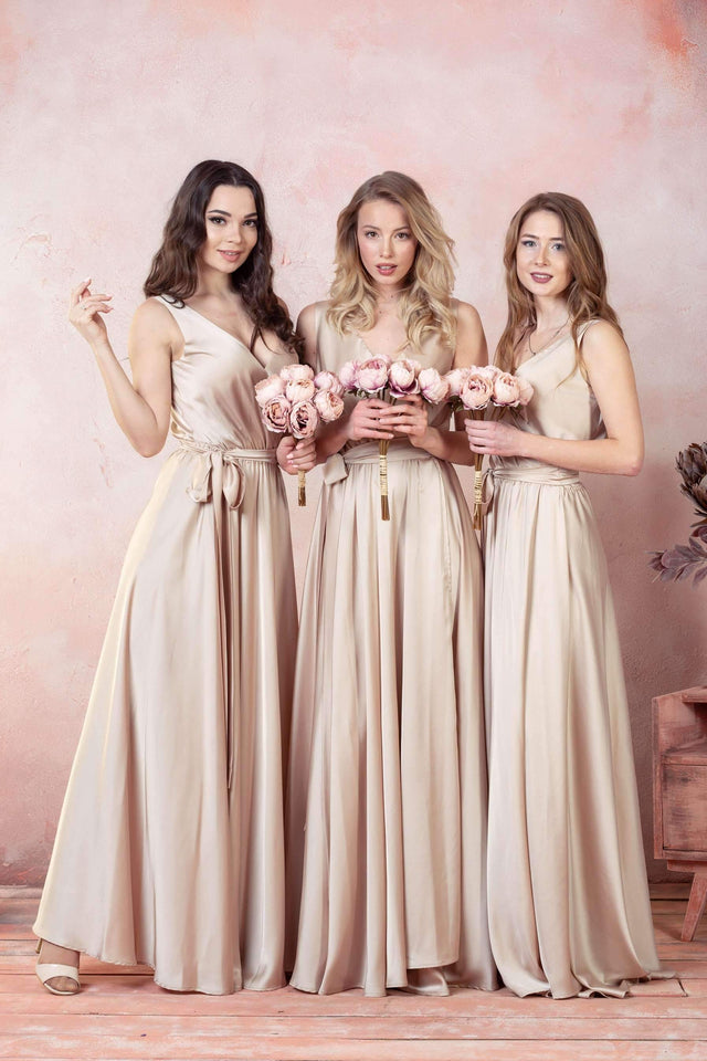 Cappuccino Infinity Bridesmaid Dress-Bridesmaid Dresses-Ivory and Kate