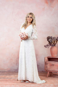 Soft Lace Long Wedding dress