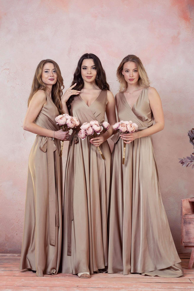 Bridesmaid Boho Infinity Wrap Long Dress