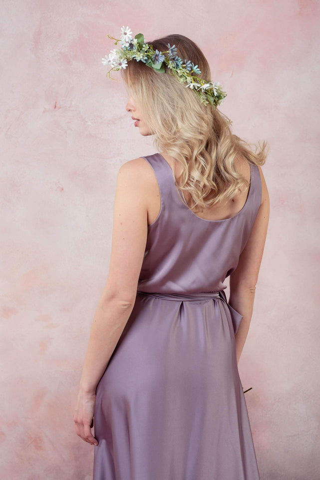 Champagne Infinity Bridesmaid Wrap Dress