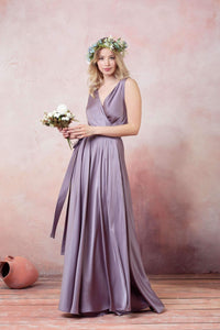 Burgundy Bridesmaid Infinity Dress-Bridesmaid Dresses-Ivory and Kate
